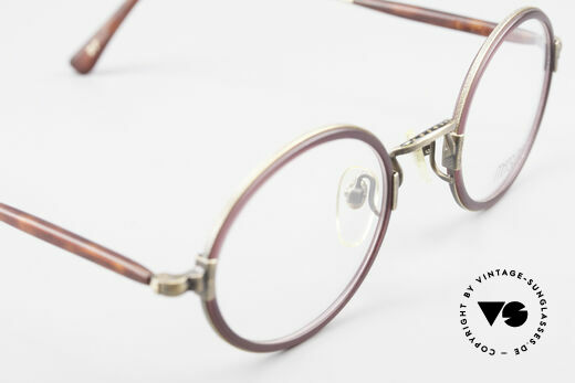 Matsuda 2834 Rund Ovale 90er Luxus Brille, Größe: medium, Passend für Herren und Damen