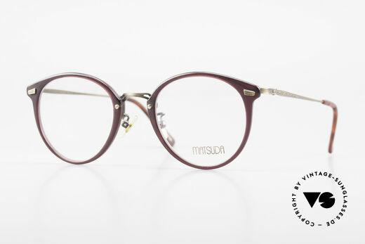 Matsuda 2836 Panto Stil 90er Luxus Brille Details