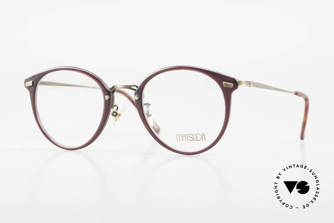 Matsuda 2836 Panto Stil 90er Luxus Brille, 90er Jahre vintage Designer-Sonnenbrille von MATSUDA, Passend für Herren und Damen