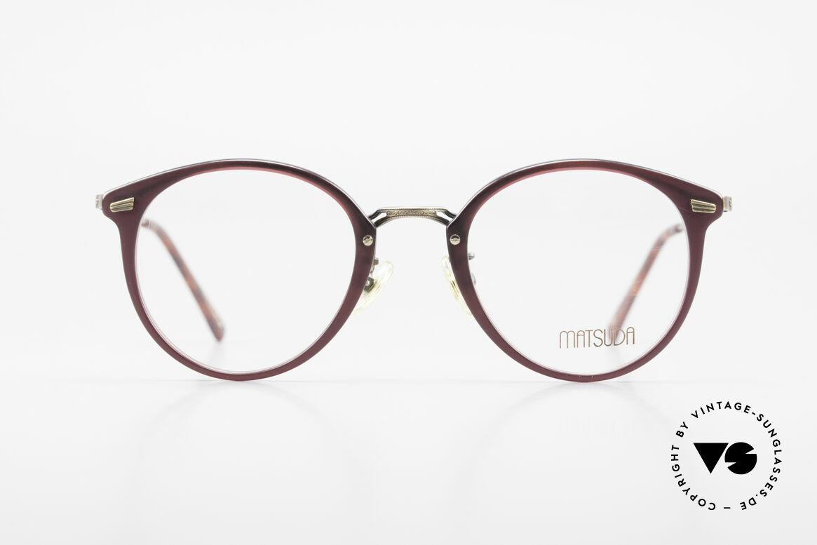 Matsuda 2836 Panto Stil 90er Luxus Brille, MATSUDA: ein Synonym für aufwändige Handwerkskunst, Passend für Herren und Damen