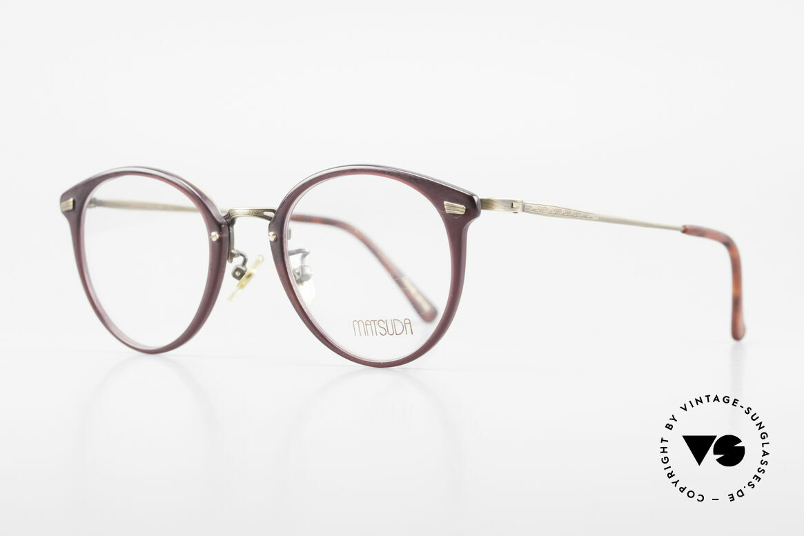 Matsuda 2836 Panto Stil 90er Luxus Brille, unter Kennern längst geschätzt & entsprechend begehrt, Passend für Herren und Damen