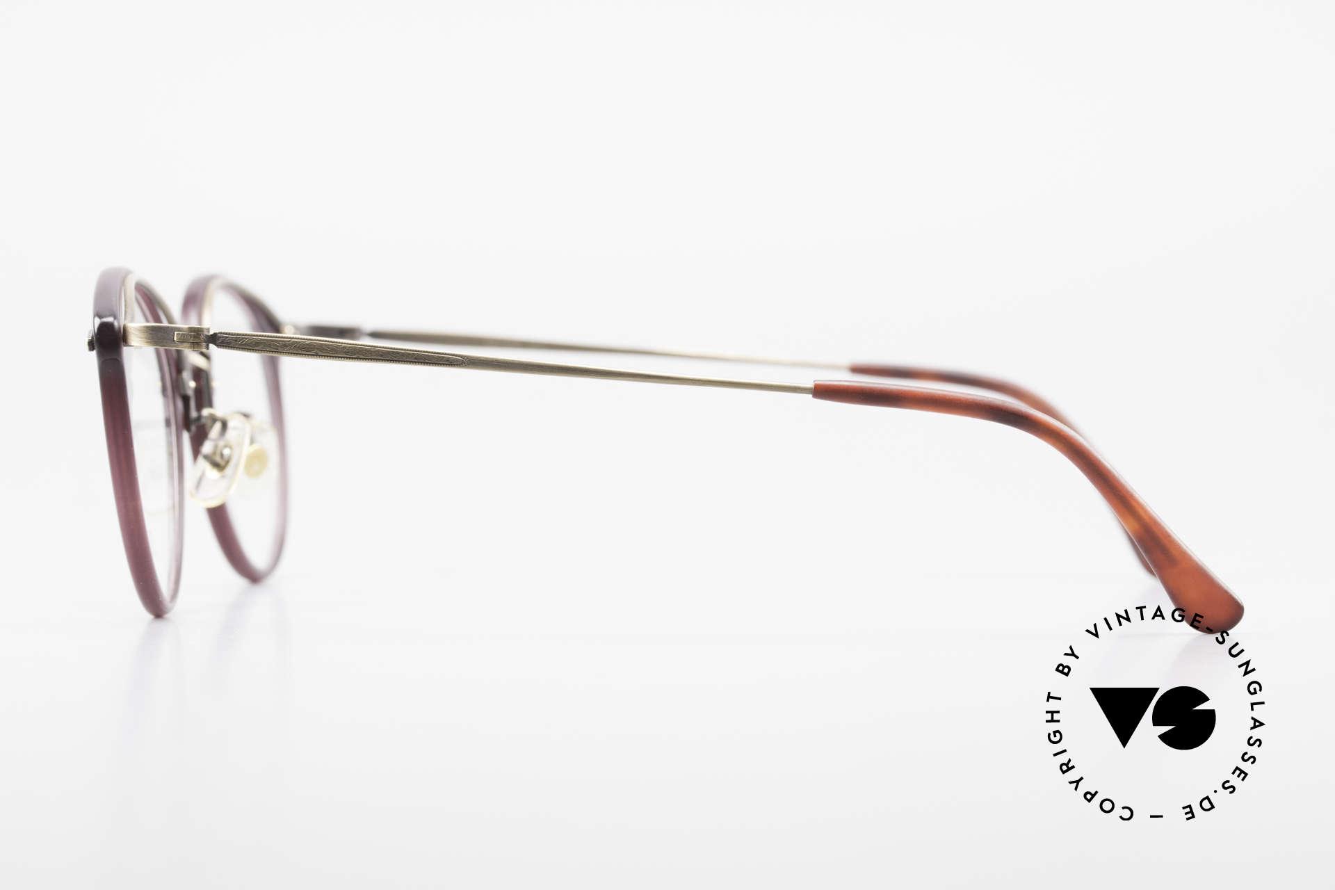 Matsuda 2836 Panto Stil 90er Luxus Brille, komplette vintage Fassung mit sehr viel Liebe zum Detail, Passend für Herren und Damen
