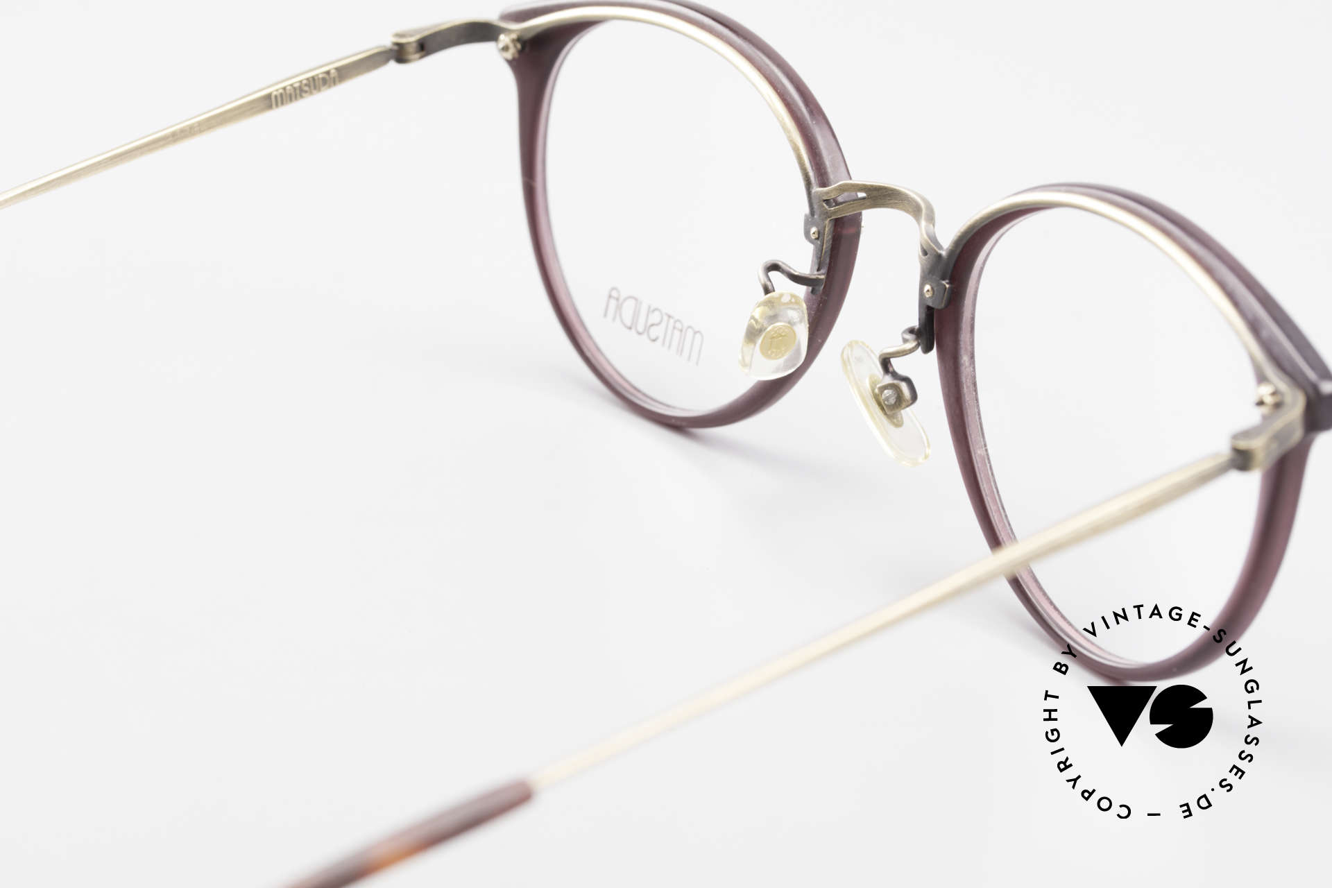 Matsuda 2836 Panto Stil 90er Luxus Brille, Größe: medium, Passend für Herren und Damen