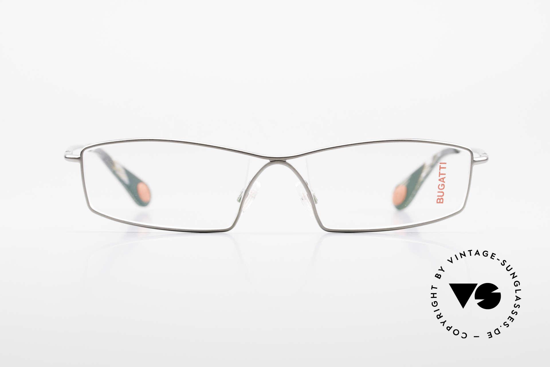Bugatti 201 Odotype Vintage Designer Herrenbrille, Kleinserie markant männlicher Brillendesigns, Passend für Herren