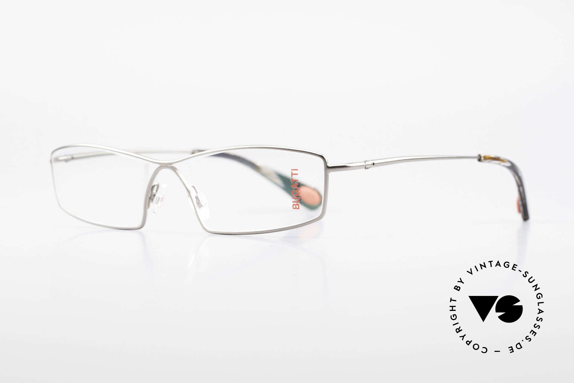 Bugatti 201 Odotype Vintage Designer Herrenbrille, high-tech Rahmen mit genialer Glaseinfassung, Passend für Herren