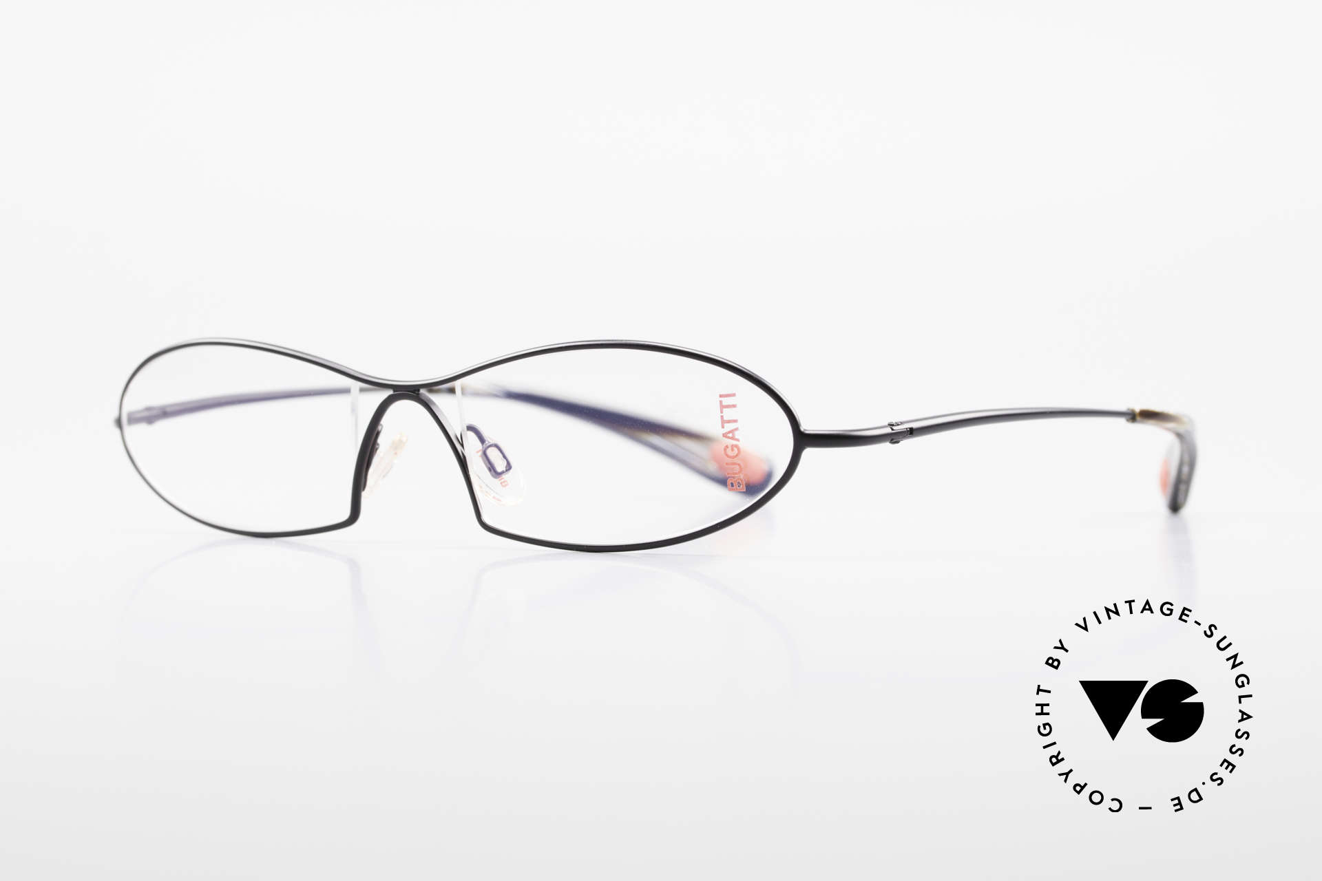 Bugatti 343 Odotype Vintage Designer Brille Herren, ergonomischer Rahmen mit Federscharnieren, Passend für Herren