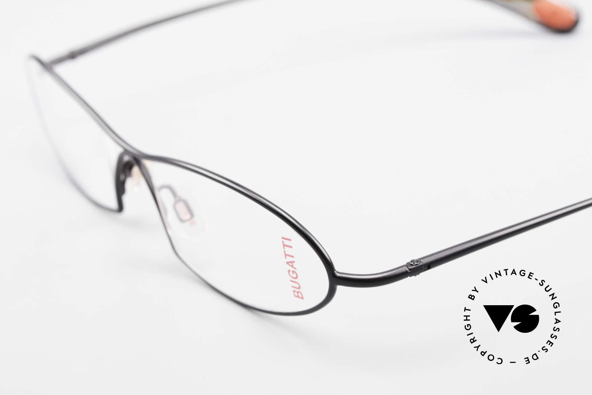 Bugatti 343 Odotype Vintage Designer Brille Herren, sehr spezielle Glaseinfassung & Top Komfort, Passend für Herren