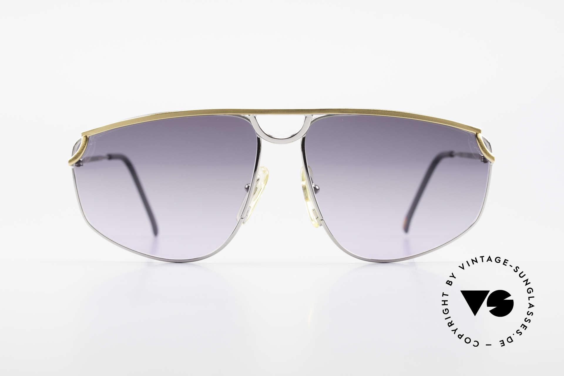 Casanova DSC9 Aviator Style Sonnenbrille, Titanium-Fassung mit vergoldeter Brücke und Bügeln, Passend für Herren und Damen