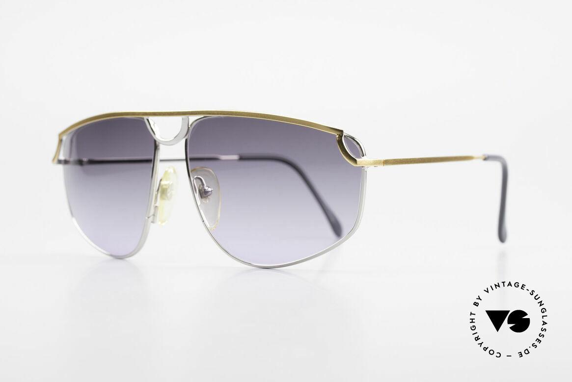Casanova DSC9 Aviator Style Sonnenbrille, rare Sonnengläser in grau-violett-Verlauf, Hingucker!, Passend für Herren und Damen