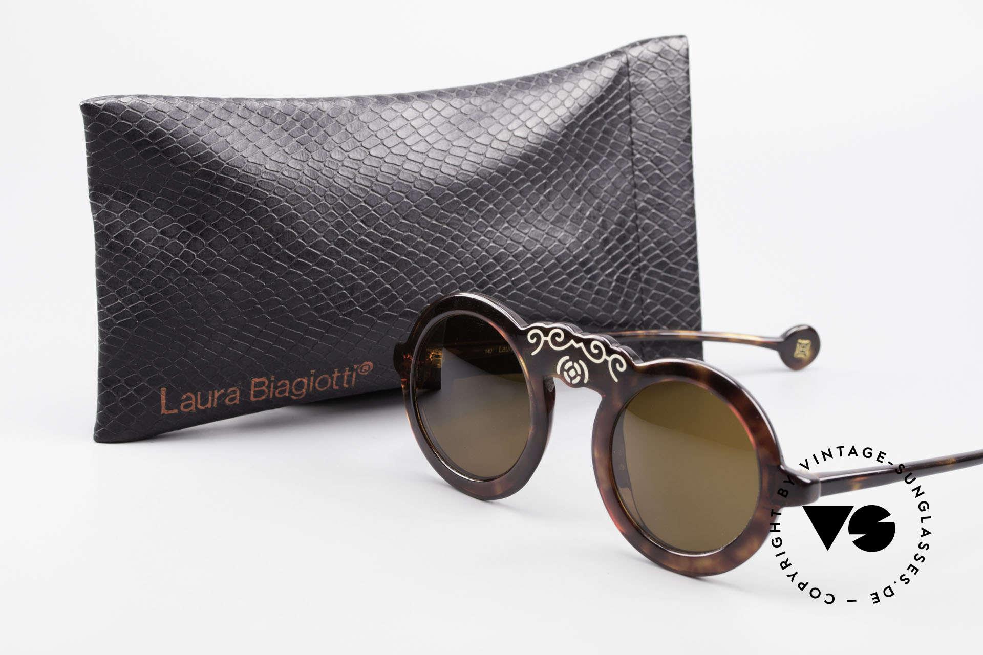 Laura Biagiotti V93 Shangai True Vintage Sonnenbrille 70er, Größe: small, Passend für Damen