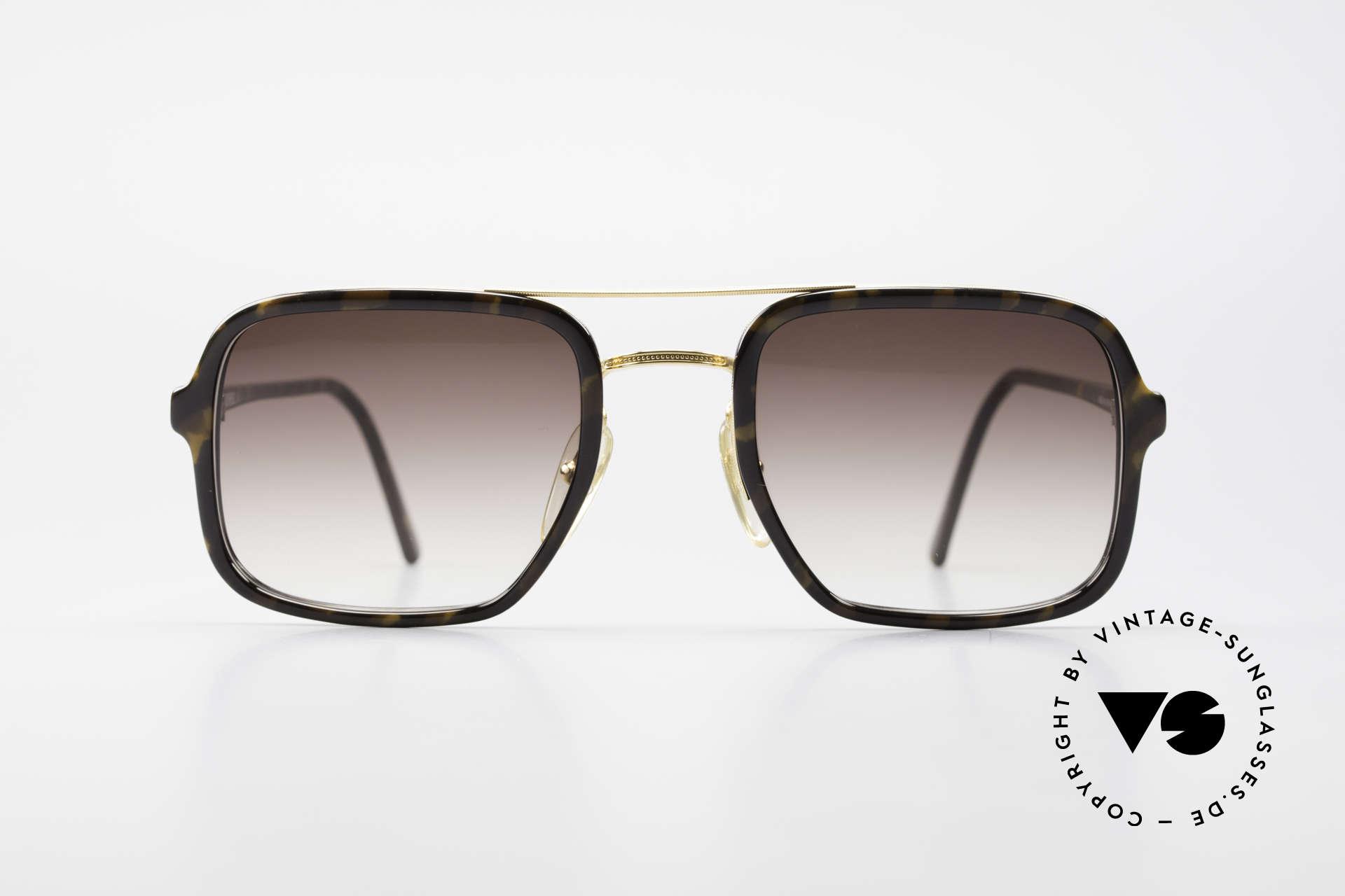 Dunhill 6059 Rare 80er Herren Sonnenbrille, enorm hochwertiges Optyl Gestell; zudem VERGOLDET, Passend für Herren
