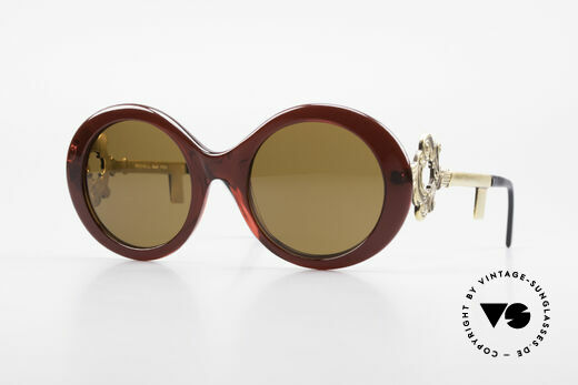 Moschino M254 Schüssel Sonnenbrille Antik Details