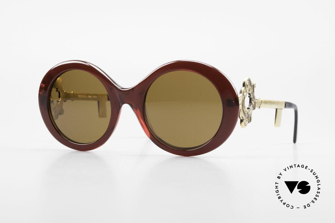 Moschino M254 Schüssel Sonnenbrille Antik, außergewöhnliche Moschino by Persol Sonnenbrille, Passend für Damen