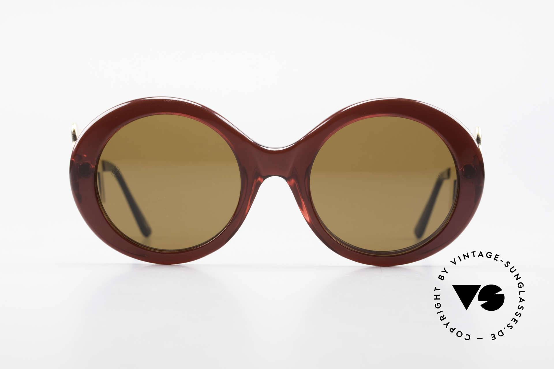Moschino M254 Schüssel Sonnenbrille Antik, Moschino-Kreationen von Persol produziert (80er), Passend für Damen