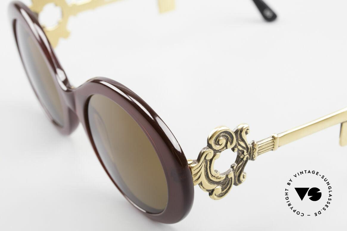 Moschino M254 Schüssel Sonnenbrille Antik, ungetragen (wie alle unsere 80er Moschino Brillen), Passend für Damen