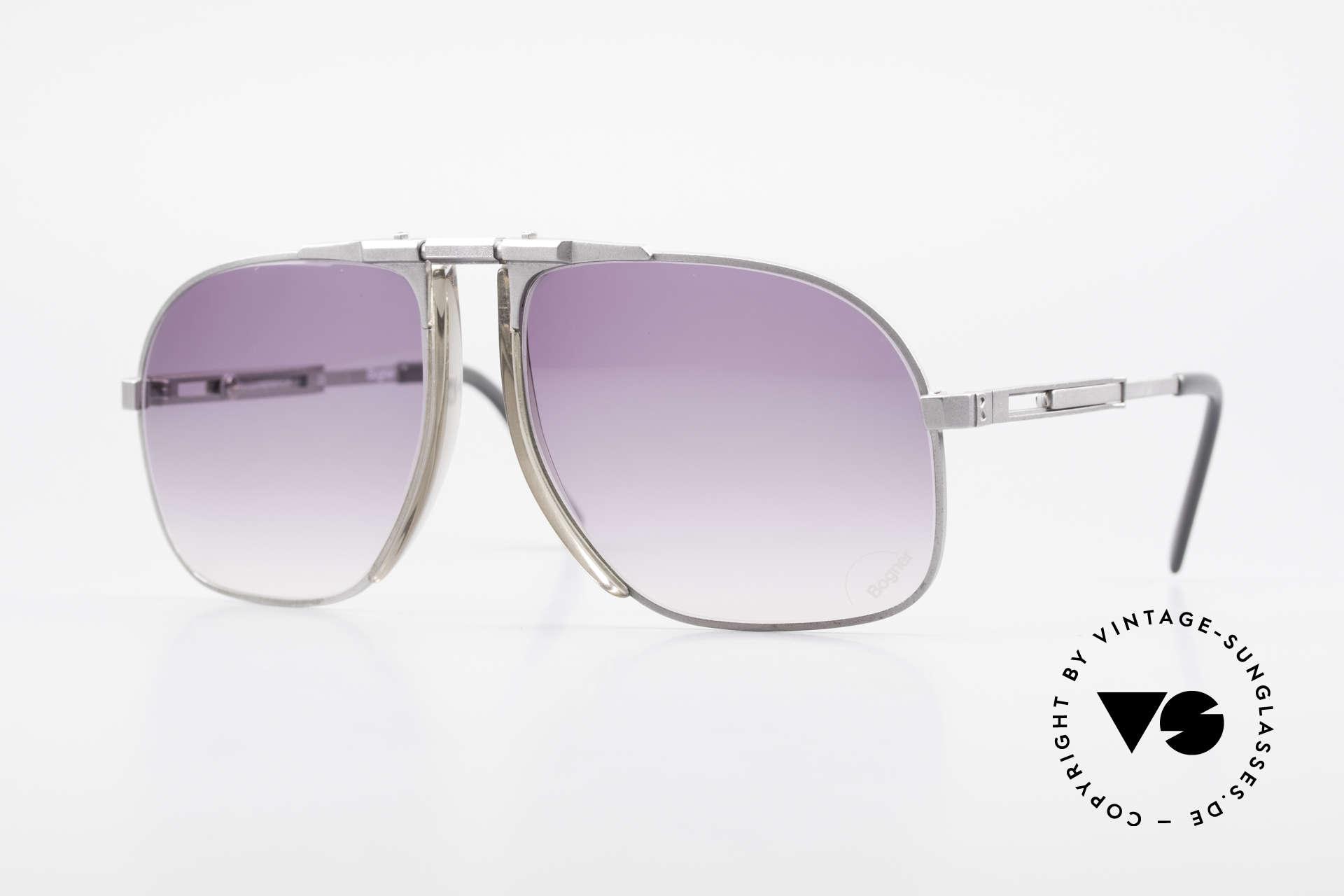Willy Bogner 7023 Einstellbare Sonnenbrille 80er, die Bestseller Sonnenbrille vom Ski-Ass Willy Bogner, Passend für Herren
