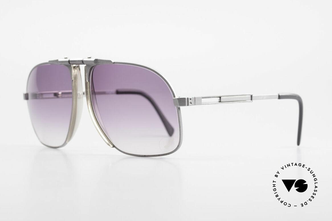Willy Bogner 7023 Einstellbare Sonnenbrille 80er, feinste Qualität (100% UV) aus Österreich von ca. 1982, Passend für Herren