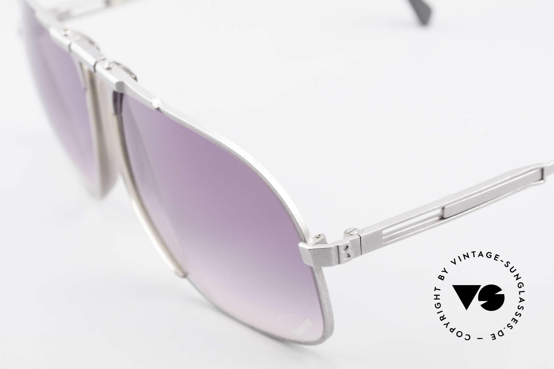 Willy Bogner 7023 Einstellbare Sonnenbrille 80er, 7023 = ähnlich der James Bond Bogner Brille Mod. 7003, Passend für Herren
