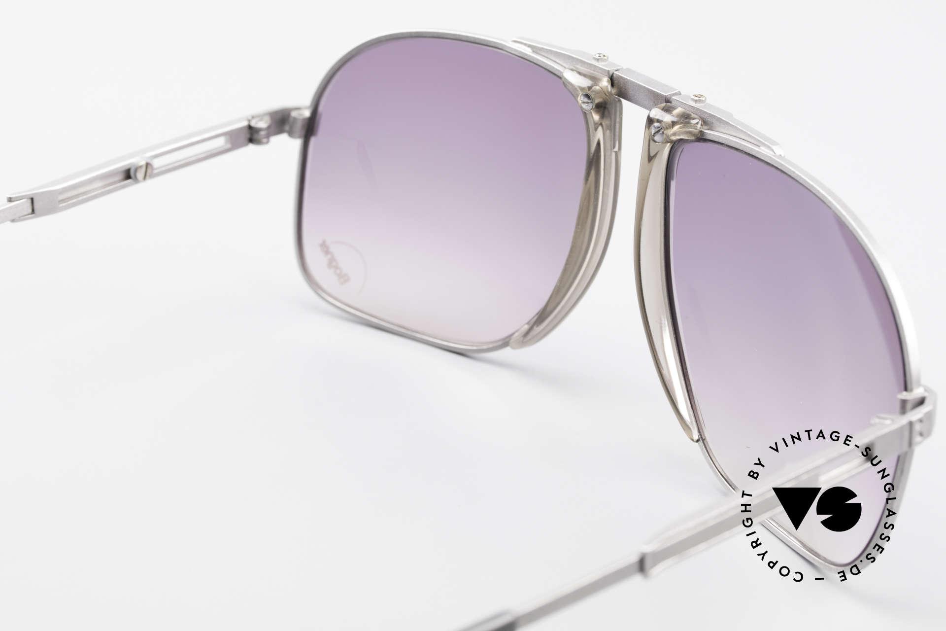 Willy Bogner 7023 Einstellbare Sonnenbrille 80er, KEINE RetroBrille; ein vintage ORIGINAL + Bogner Etui, Passend für Herren