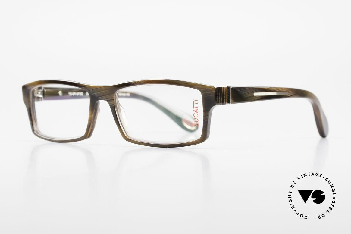 Bugatti 486 Markant Eckige Herrenbrille, optimaler Tragekomfort dank Feder-Scharnieren, Passend für Herren