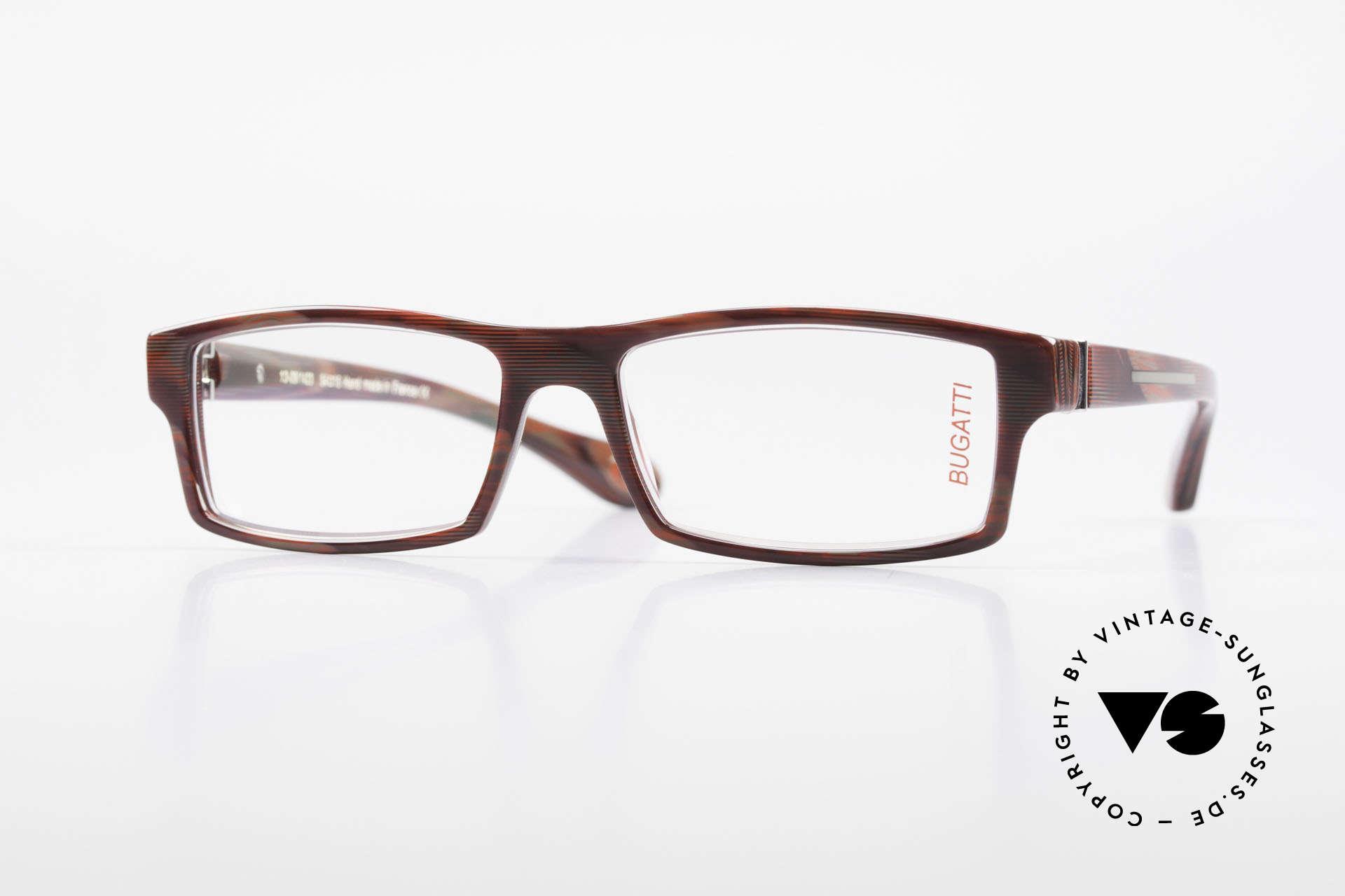 Bugatti 486 Eckige Designer Herrenbrille, markante high-tech Brillenfassung von Bugatti, Passend für Herren