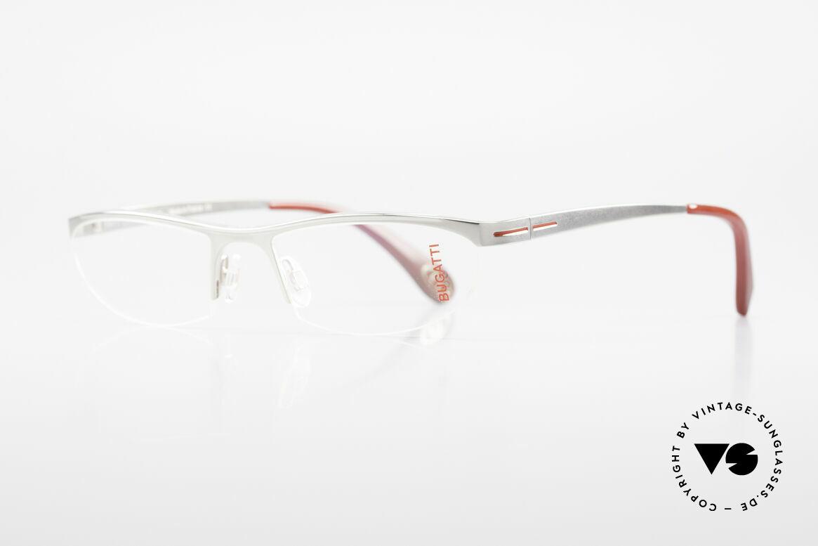 Bugatti 497 Palladium Vintage Brille Nylor, ergonomischer Rahmen mit Federscharnieren, Passend für Herren