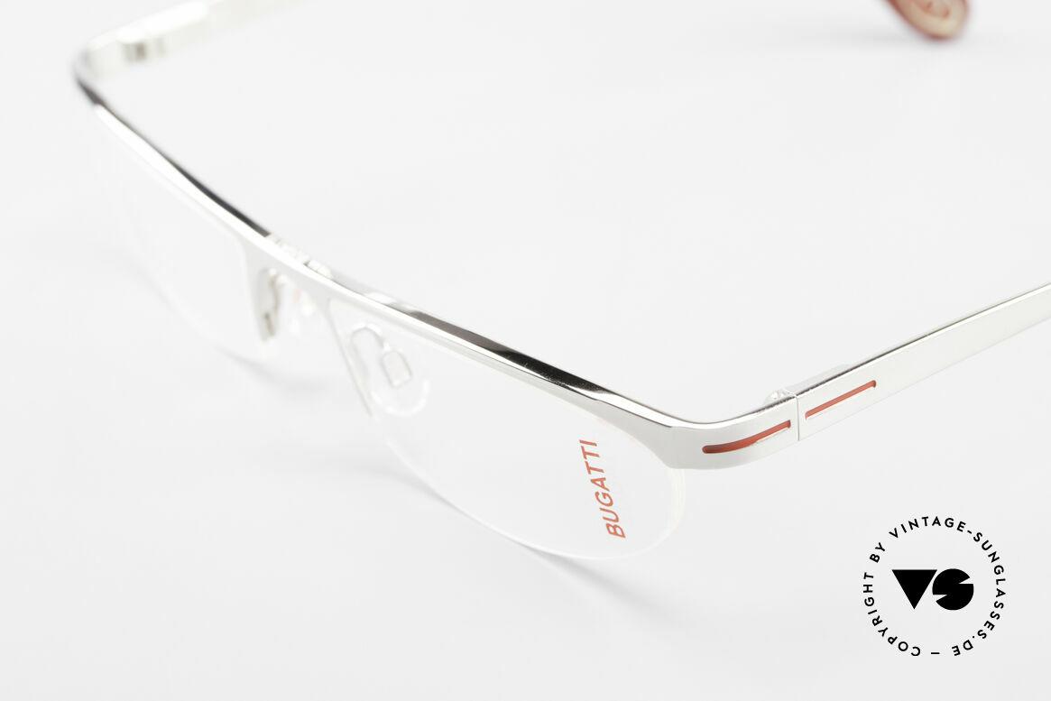 Bugatti 497 Palladium Vintage Brille Nylor, ungetragene Rarität der Bugatti Kleinstserie, Passend für Herren