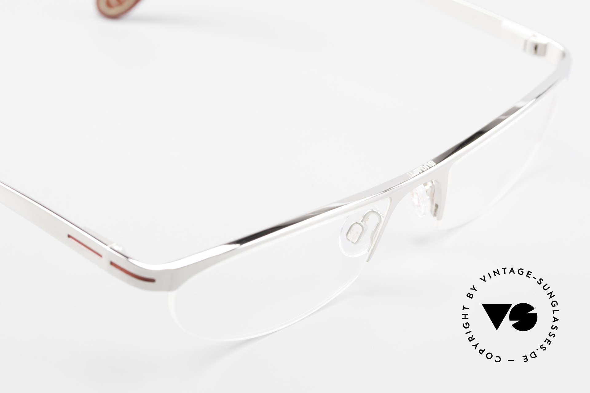 Bugatti 497 Palladium Vintage Brille Nylor, Nylor-Rahmen ist als (Sonnen)Brille verglasbar, Passend für Herren