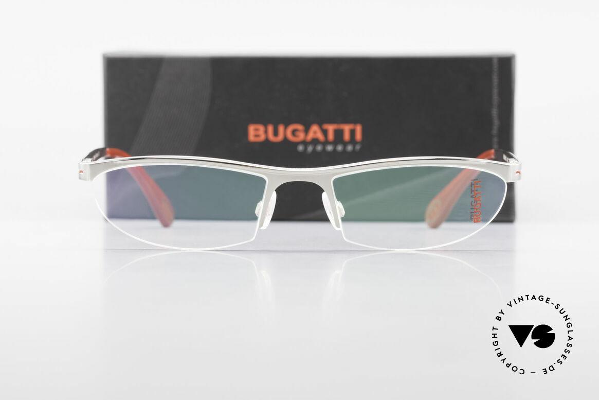 Bugatti 497 Palladium Vintage Brille Nylor, Größe: large, Passend für Herren