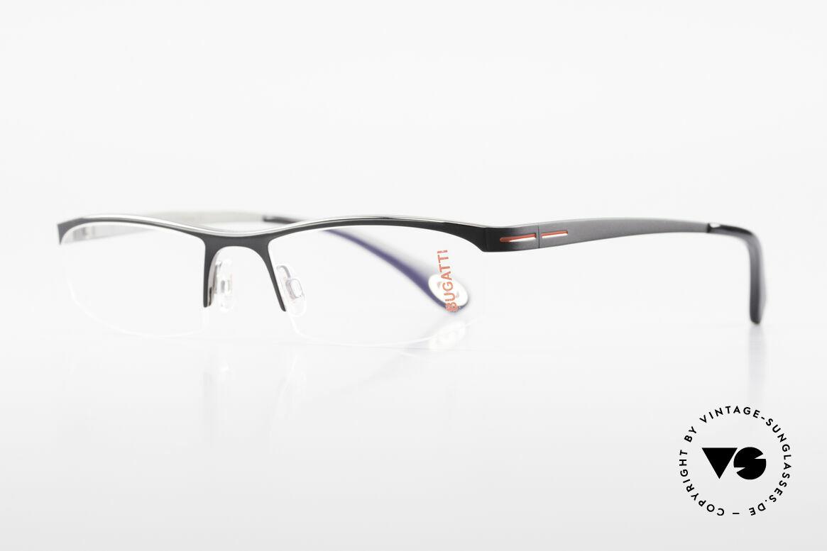 Bugatti 495 Luxus Nylor-Brille Gentlemen, ergonomischer Rahmen mit Federscharnieren, Passend für Herren