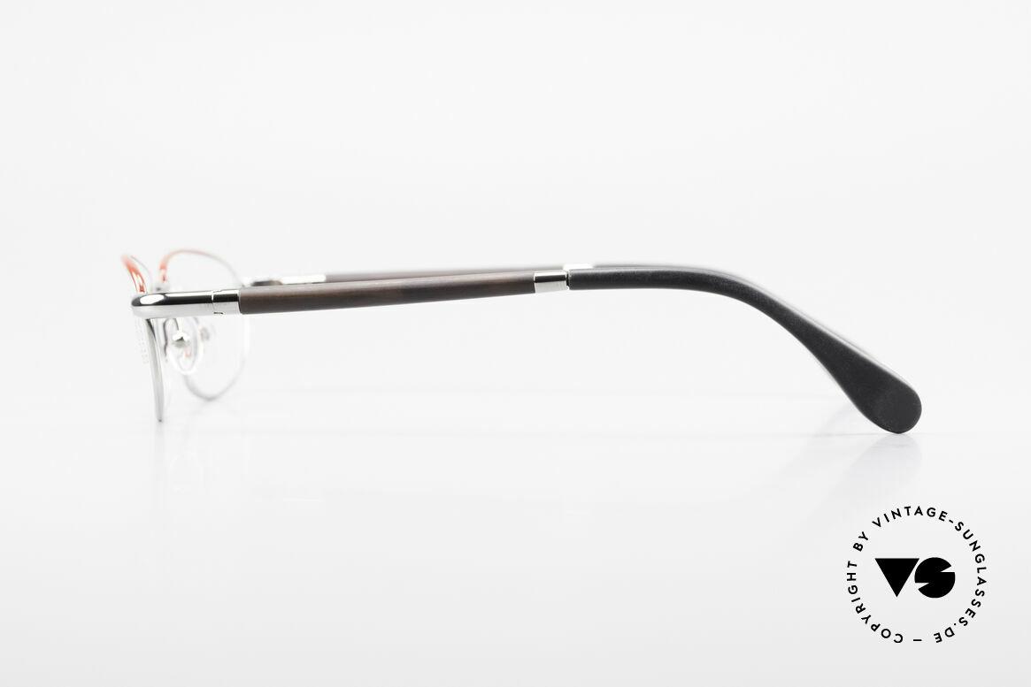Bugatti 537 Echthorn Brille Palladium, flexible Federscharniere für eine optimale Passform, Passend für Herren