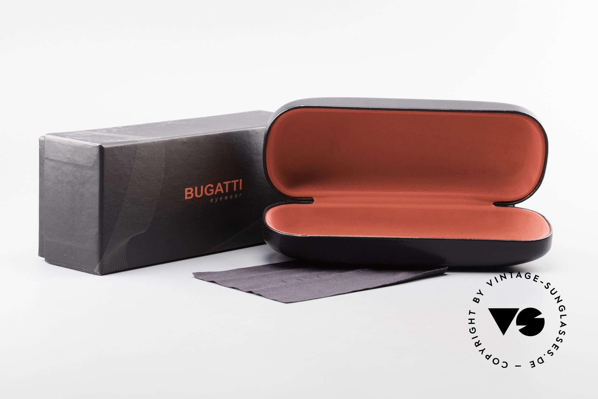 Bugatti 537 Echthorn Brille Palladium, Größe: medium, Passend für Herren
