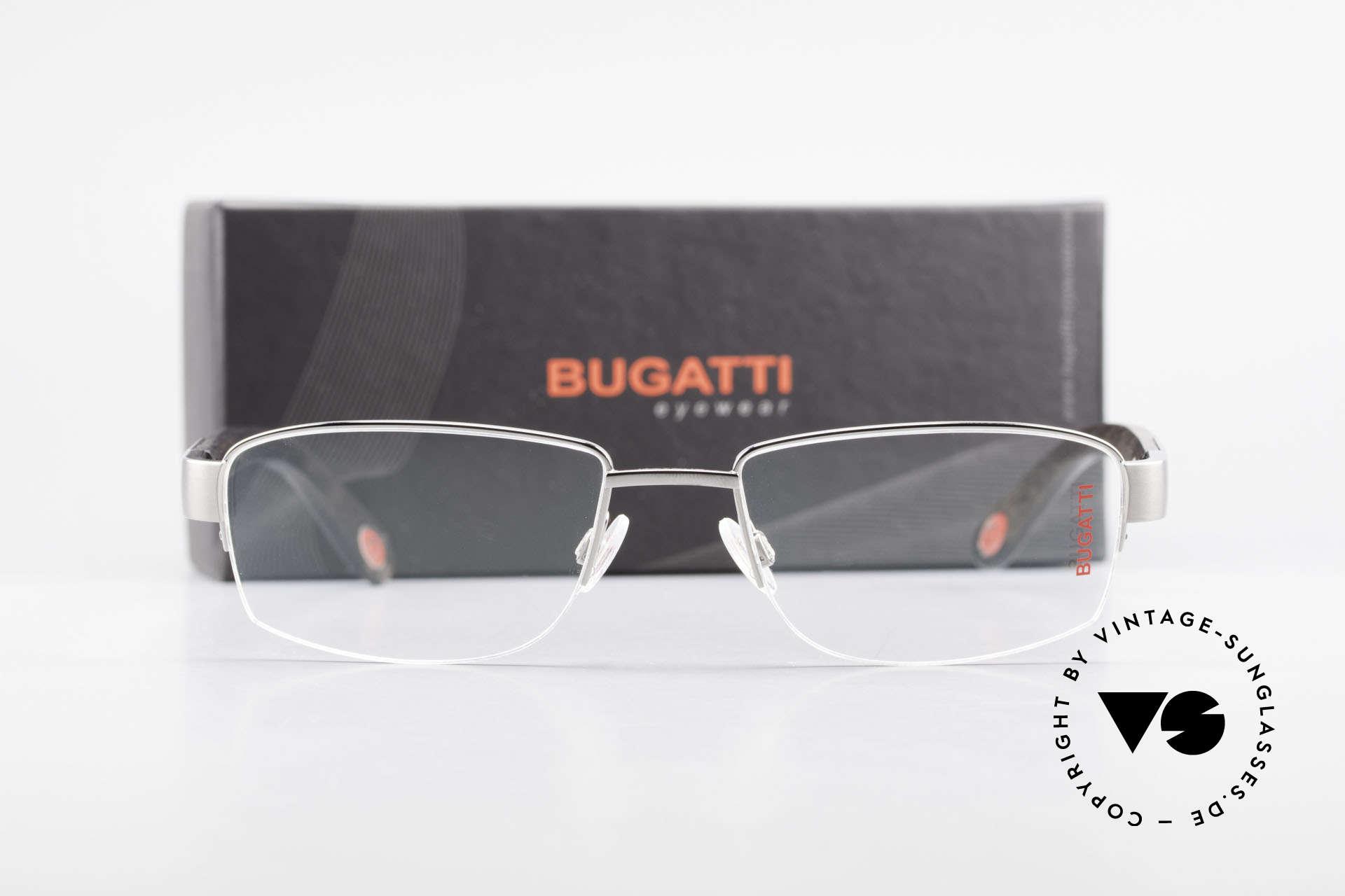 Bugatti 529 Ebenholz Titan Ruthenium XL, Größe: large, Passend für Herren