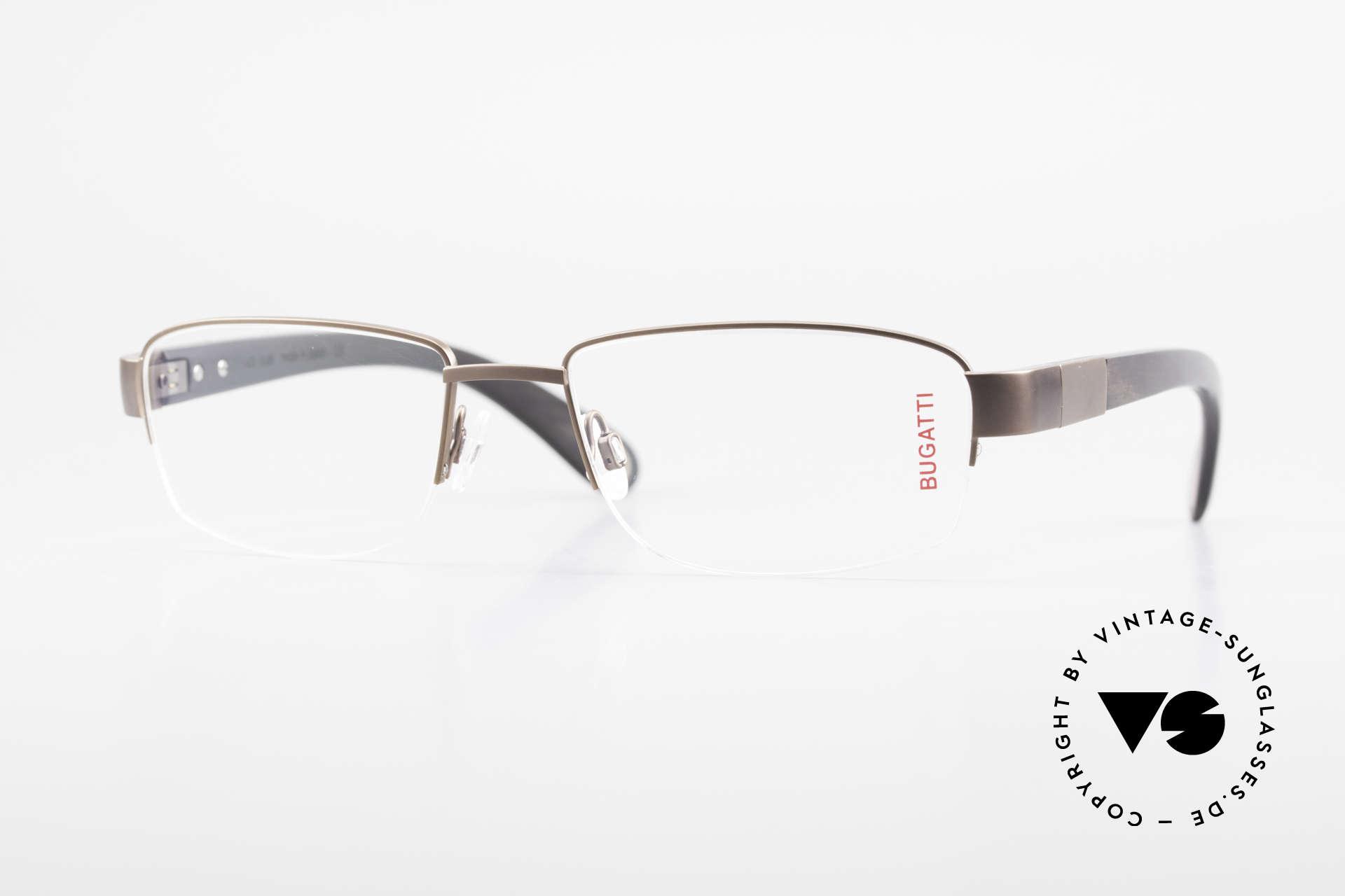 Bugatti 529 XL Ebenholz Titanium Brille, absolute LUXUS vintage Brillenfassung von Bugatti, Passend für Herren