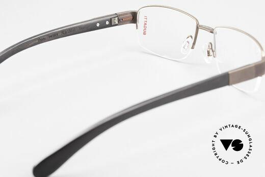 Bugatti 529 XL Ebenholz Titanium Brille, ein echtes Spitzen-Produkt; mehr Qualität geht nicht, Passend für Herren