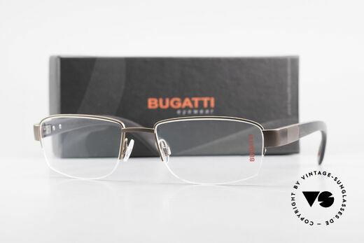 Bugatti 529 XL Ebenholz Titanium Brille, Größe: large, Passend für Herren