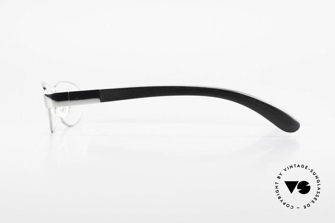 Bugatti 530 Ebenholz Titanium Ruthenium, flexible Federscharniere für eine optimale Passform, Passend für Herren