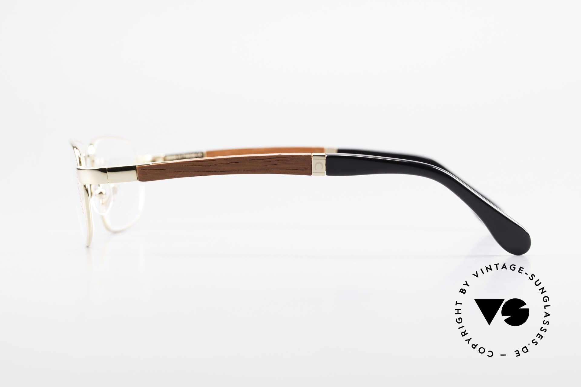 Bugatti 549 Padouk Edelholz 22kt Gold, flexible Federscharniere für eine optimale Passform, Passend für Herren