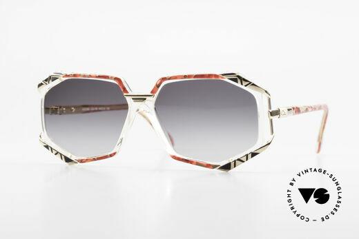 Cazal 355 Spektakuläre Sonnenbrille 90er Details