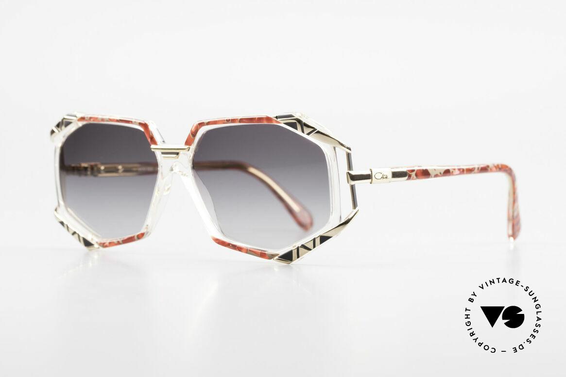 Cazal 355 Spektakuläre Sonnenbrille 90er, Farbbezeichnung: grenadine-sand gefleckt / kristall, Passend für Damen