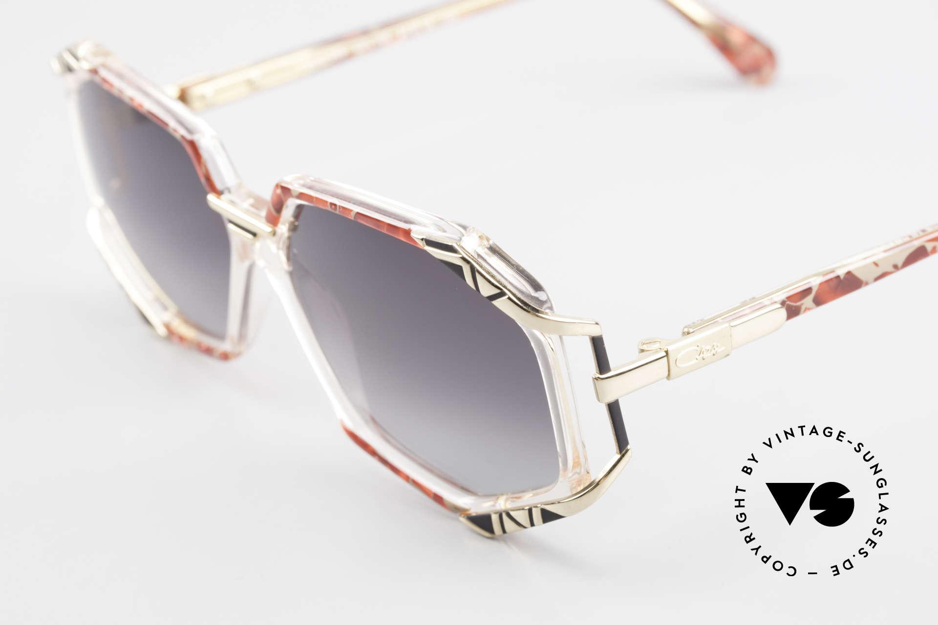 Cazal 355 Spektakuläre Sonnenbrille 90er, tolle Kombination von Farbe, Form und Materialien, Passend für Damen