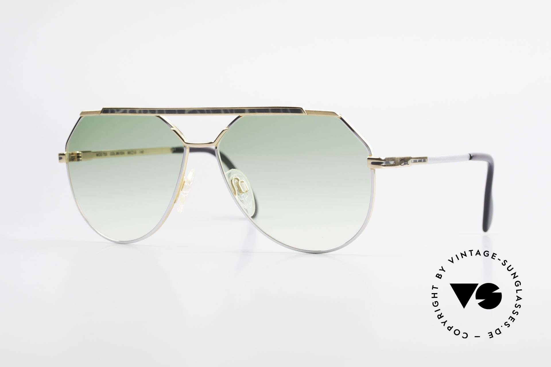 Cazal 733 Goldplattierte Sonnenbrille, sehr markante Cazal vintage Herrenbrille von 1986/87, Passend für Herren