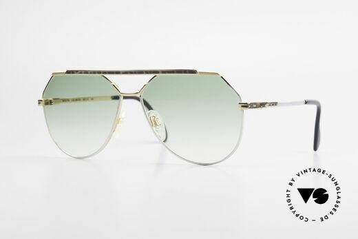 Cazal 733 Goldplattierte Sonnenbrille Details