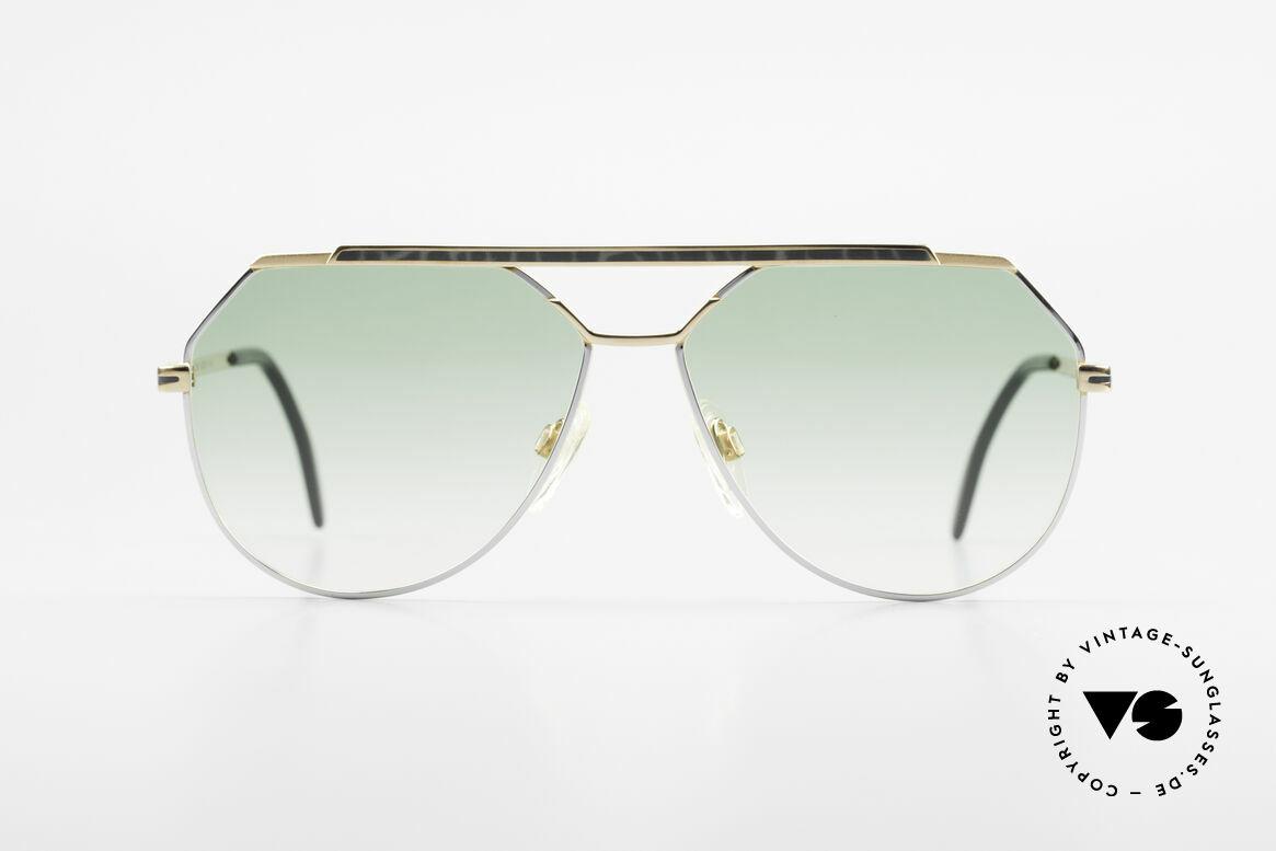 Cazal 733 Goldplattierte Sonnenbrille, Doppelsteg und klassische Tropfenform = typisch 80er, Passend für Herren