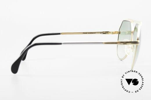 Cazal 733 Goldplattierte Sonnenbrille, edle Sonnengläser in grün-Verlauf; 100% UV protection, Passend für Herren