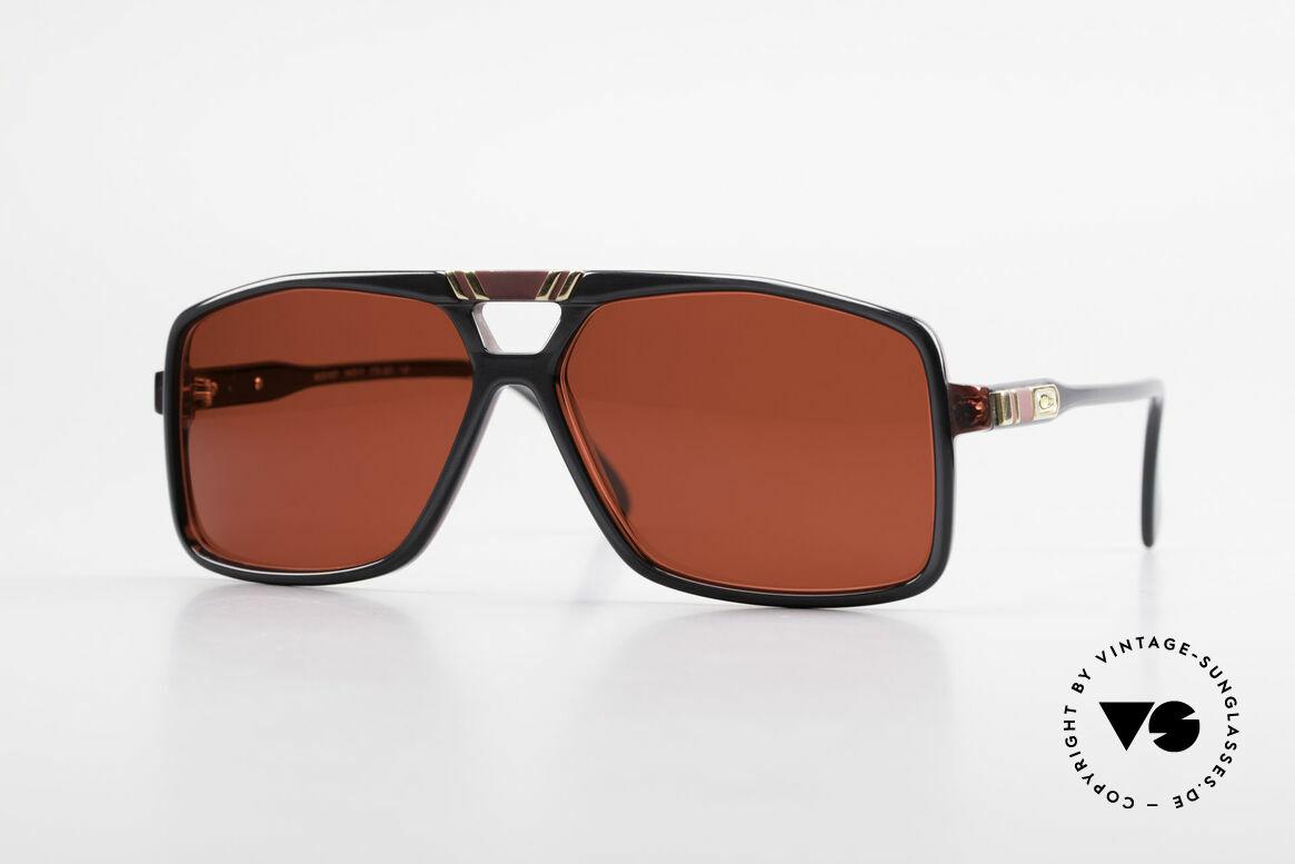 Cazal 637 80er Cazal Sonnenbrille 3D Rot, ausdrucksstarke Cazal VINTAGE Sonnenbrille, Passend für Herren
