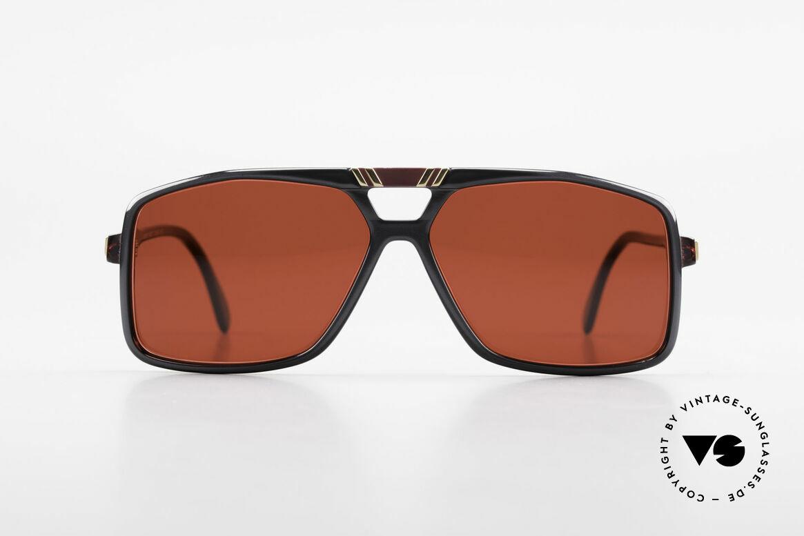 Cazal 637 80er Cazal Sonnenbrille 3D Rot, seltenes Original von ca. 1987 (Sammlerstück), Passend für Herren