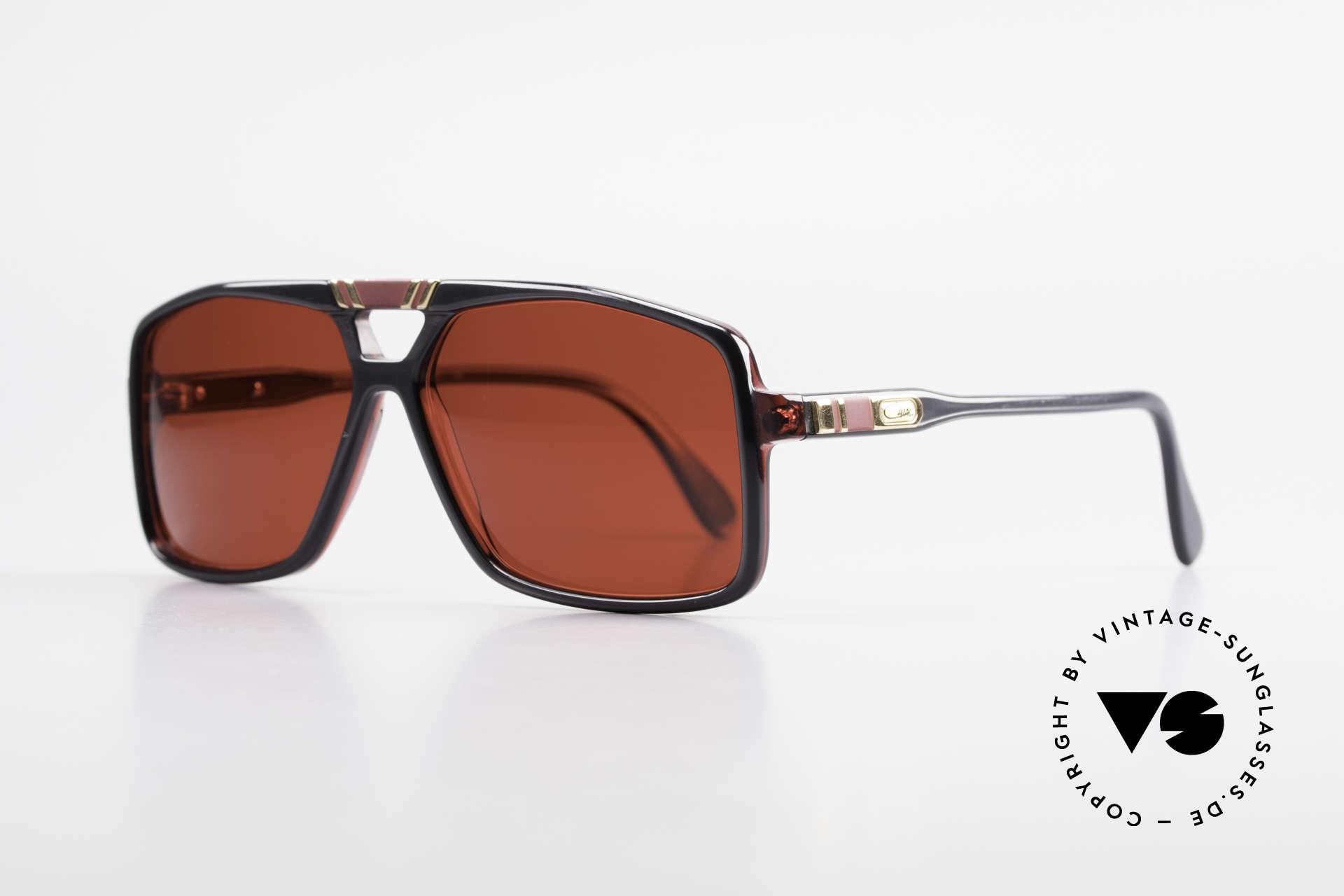 Cazal 637 80er Cazal Sonnenbrille 3D Rot, fester Bestandteil der amerik. Hip-Hop-Szene, Passend für Herren