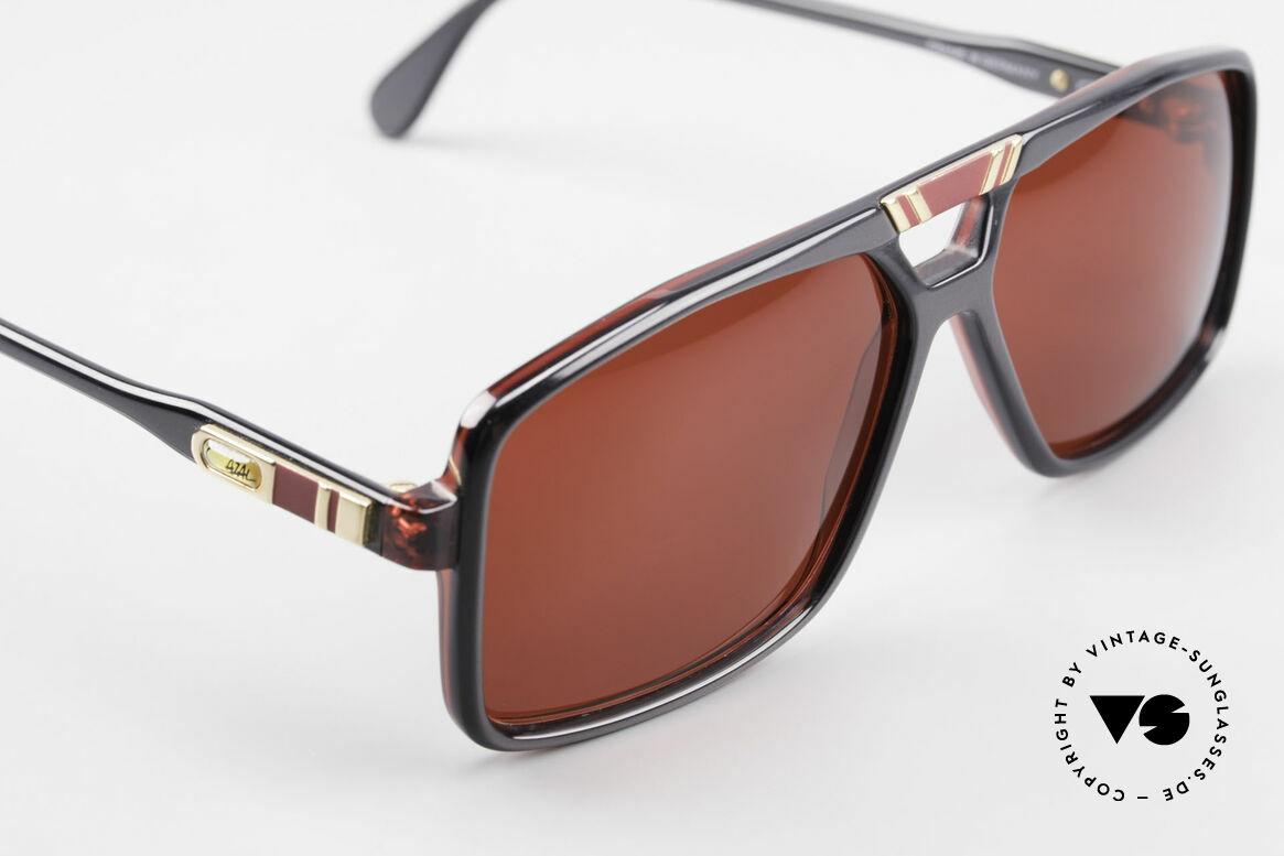 Cazal 637 80er Cazal Sonnenbrille 3D Rot, KEINE Retrobrille; ein West Germany Original, Passend für Herren