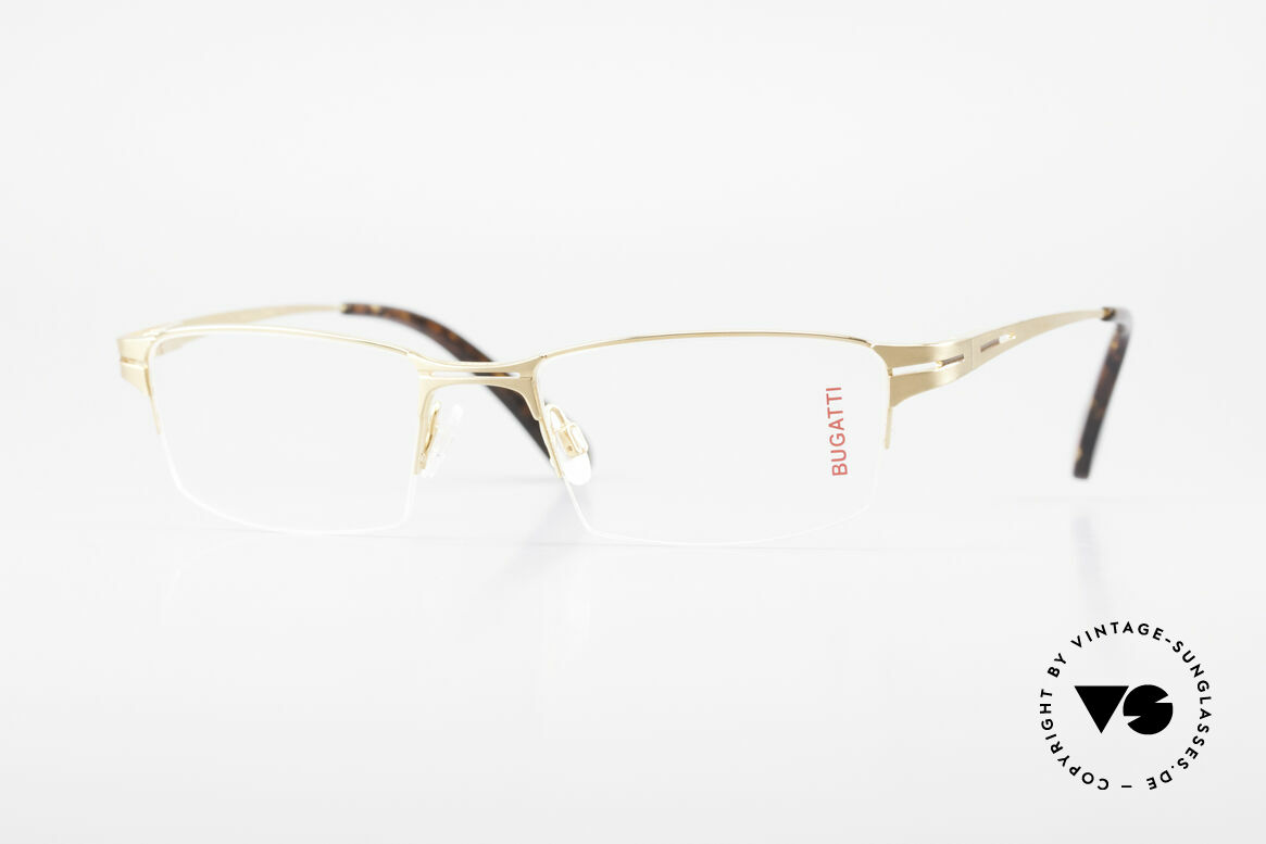 Bugatti 456 Nylor Titan Brille Vergoldet, original BUGATTI vintage Nylor-Brillenfassung, Passend für Herren